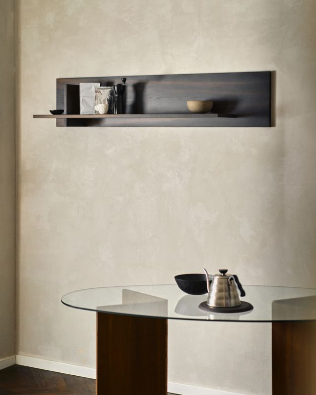 The Norwegian Wood single shelf was especially designed to give you the tool to consciously shape your surroundings.  Discover the Norwegian Wood Shelving Concept at fropt.com. Link in bio.